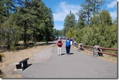 Hobie and Sherri walking out to the Oak Creek Canyon Viewpoint