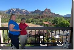 Sherri and Hobie on the balcony